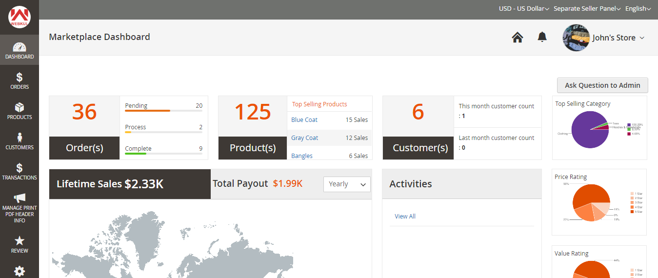 Magento 2 seller page