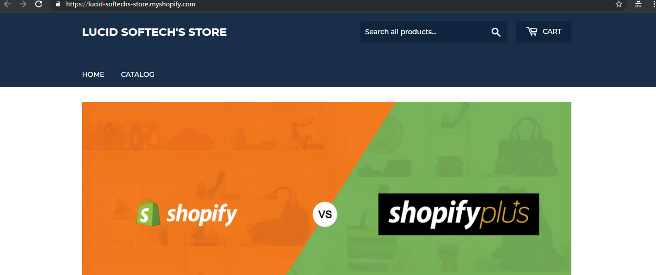 view store - Shopify installation