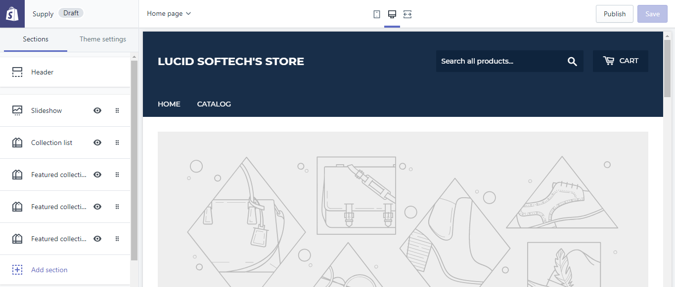 Store page - Shopify installation