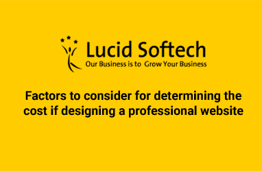 Factors to consider for determining the cost if designing a professional website
