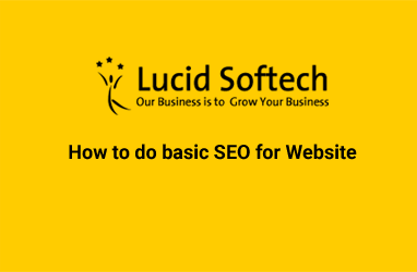 How to do basic SEO for Website