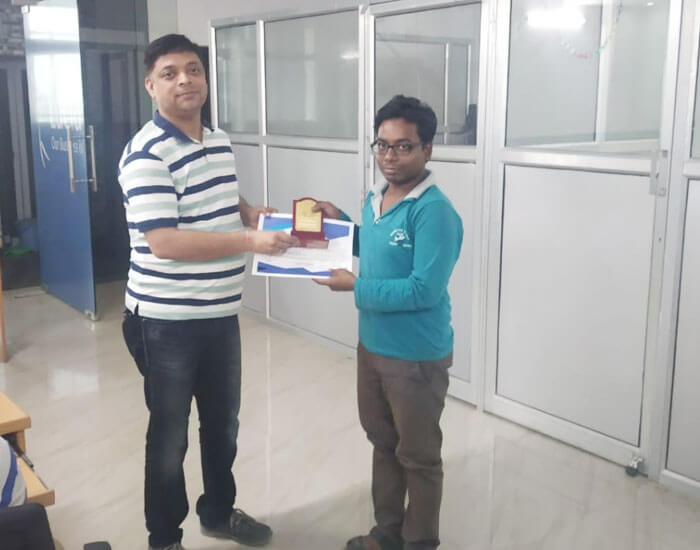 Employee of the month April 2019 –  Anand