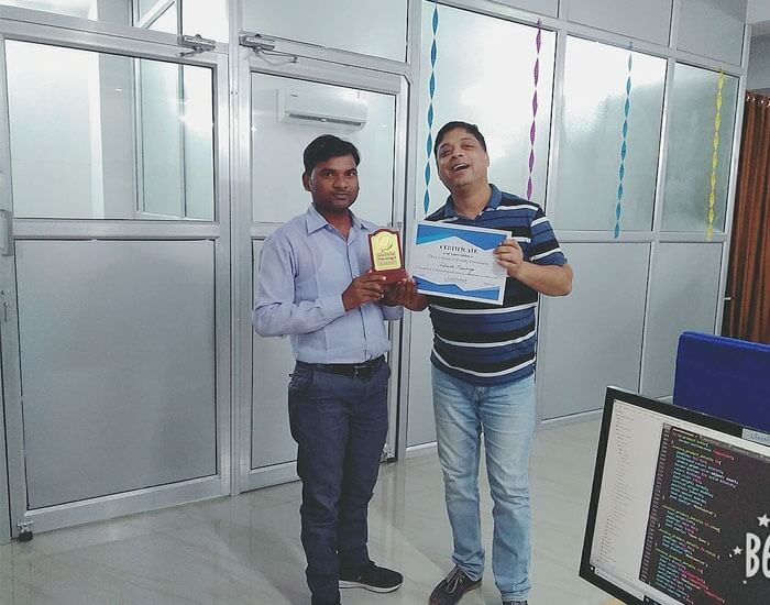 Employee of the month August 2018 – Dinesh Maurya