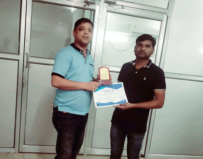Employee of the month March 2019 – Dinesh Maurya