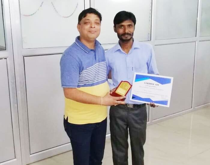 Employee of the month May 2019 – Manoj Khare