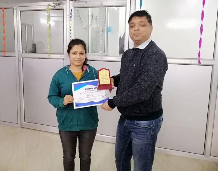 Employee of the month November 2018 – Jyoti Singh
