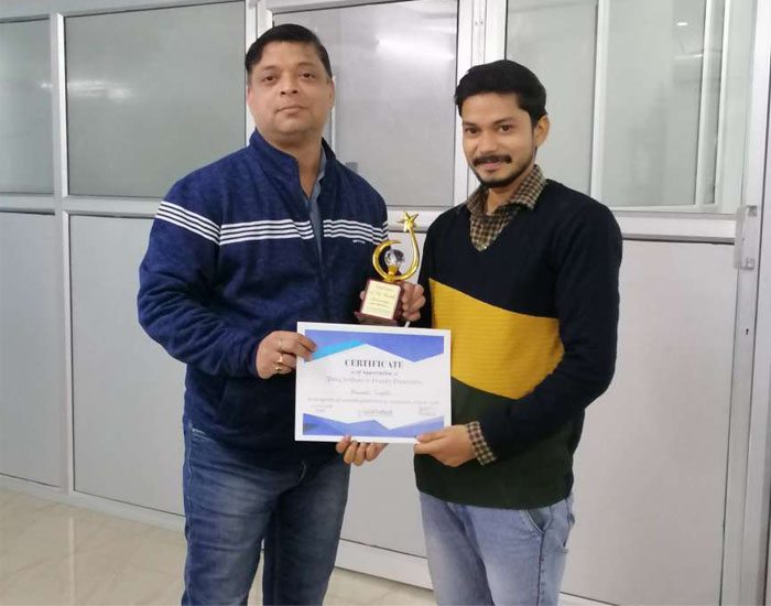 Employee of the month November 2019  – Dhermesh