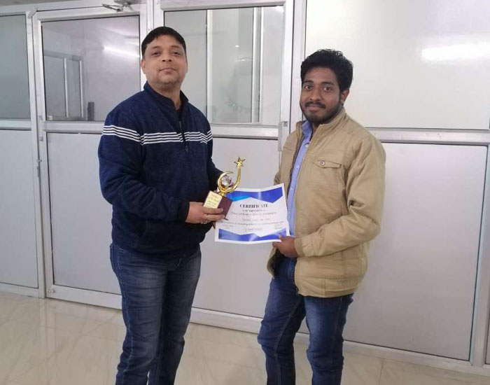 Employee of the month December 2019  – Gaurav singh