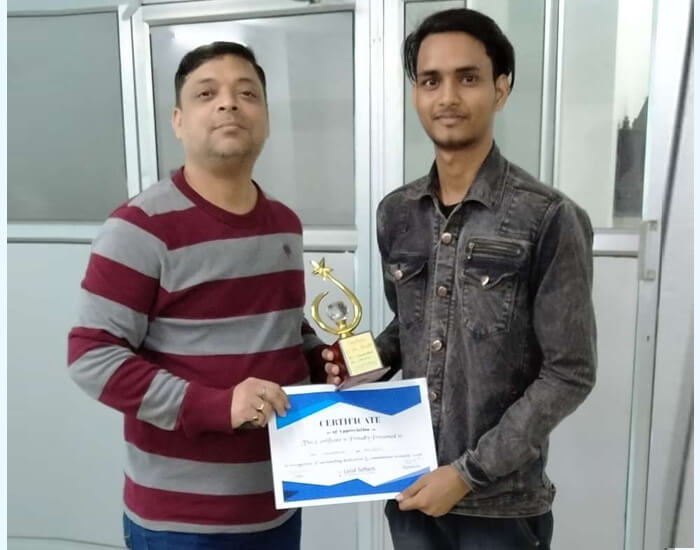 Employee of the month January 2020  – Ravi Vishwakarma